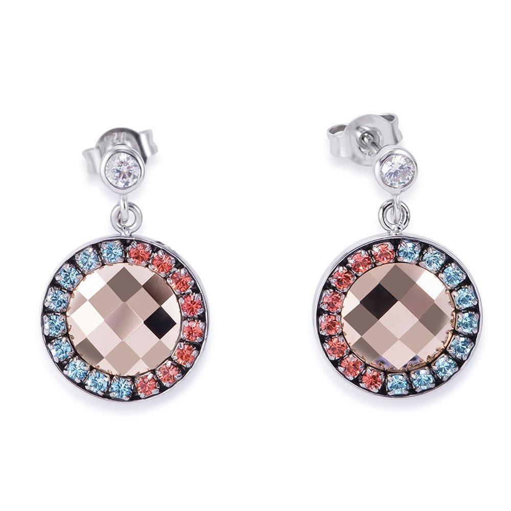 Coeur De Lion Amulet Crystal Drop Earrings