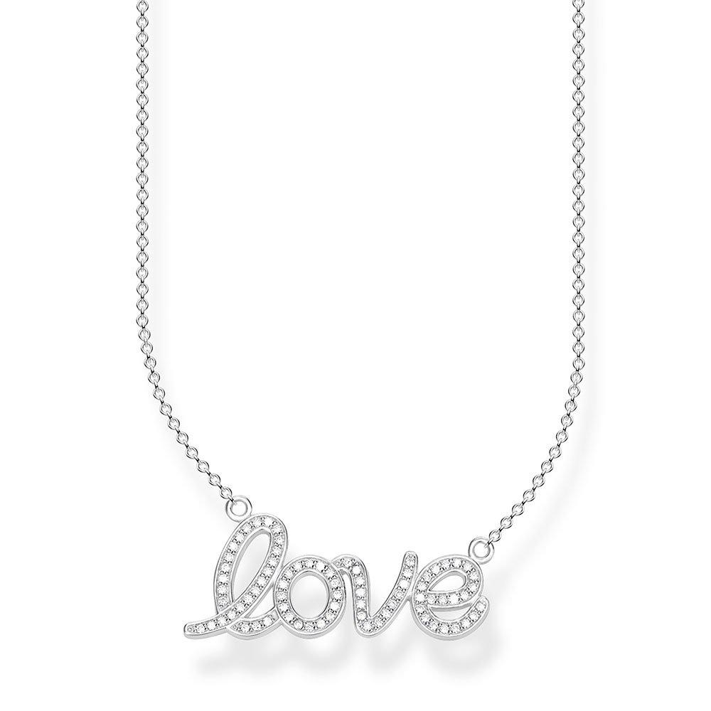 Thomas Sabo Silver Love Cubic Zirconia Necklace