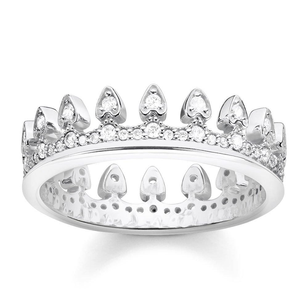 Thomas Sabo Silver Cubic Zirconia Crown Ring