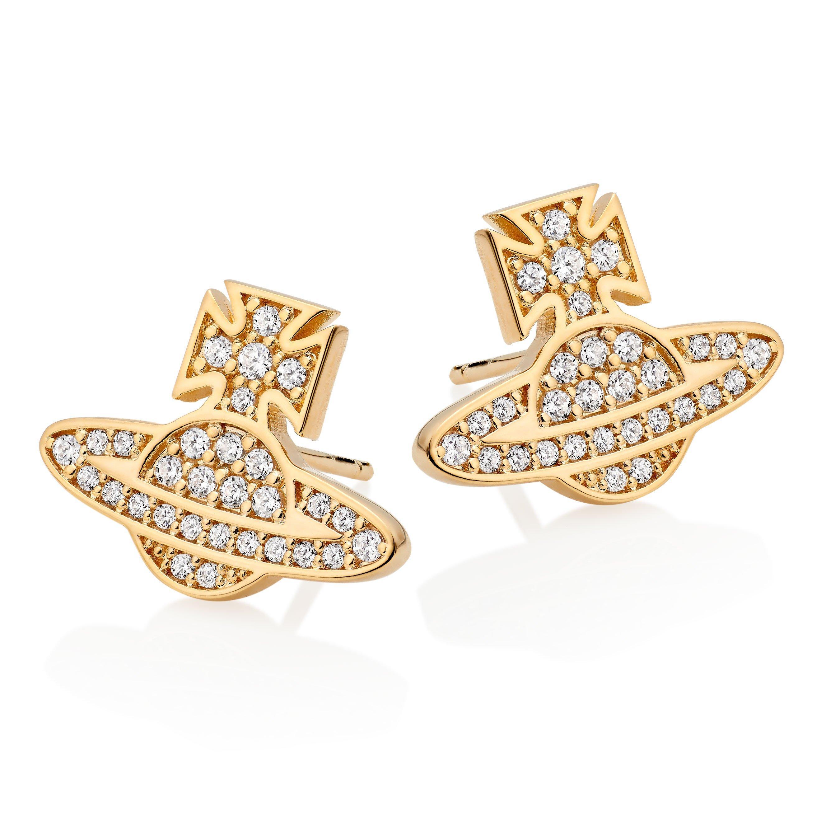 Vivienne Westwood Romina Gold Tone Orb Earrings