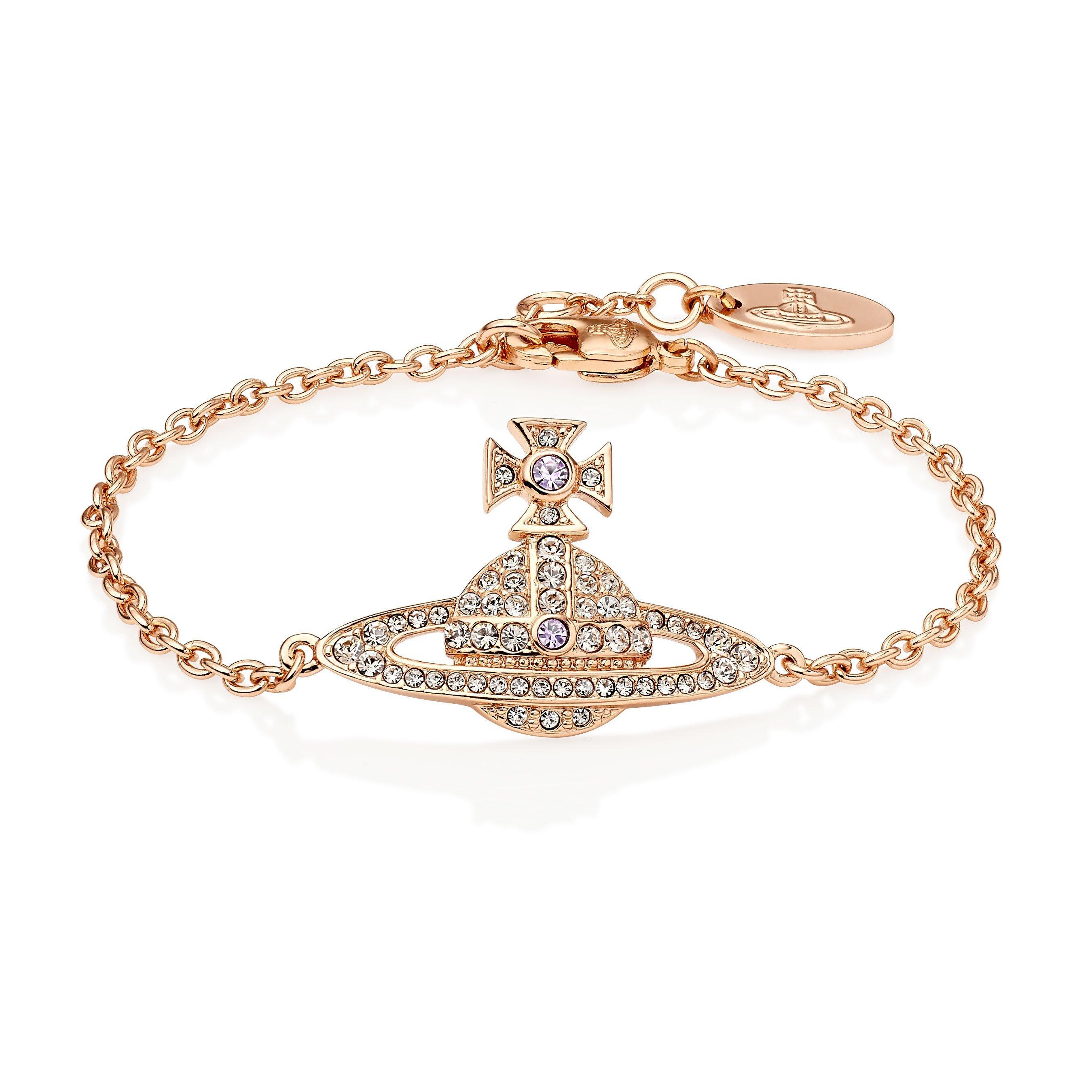 Vivienne Westwood Kika Rose Gold Tone Orb Bracelet