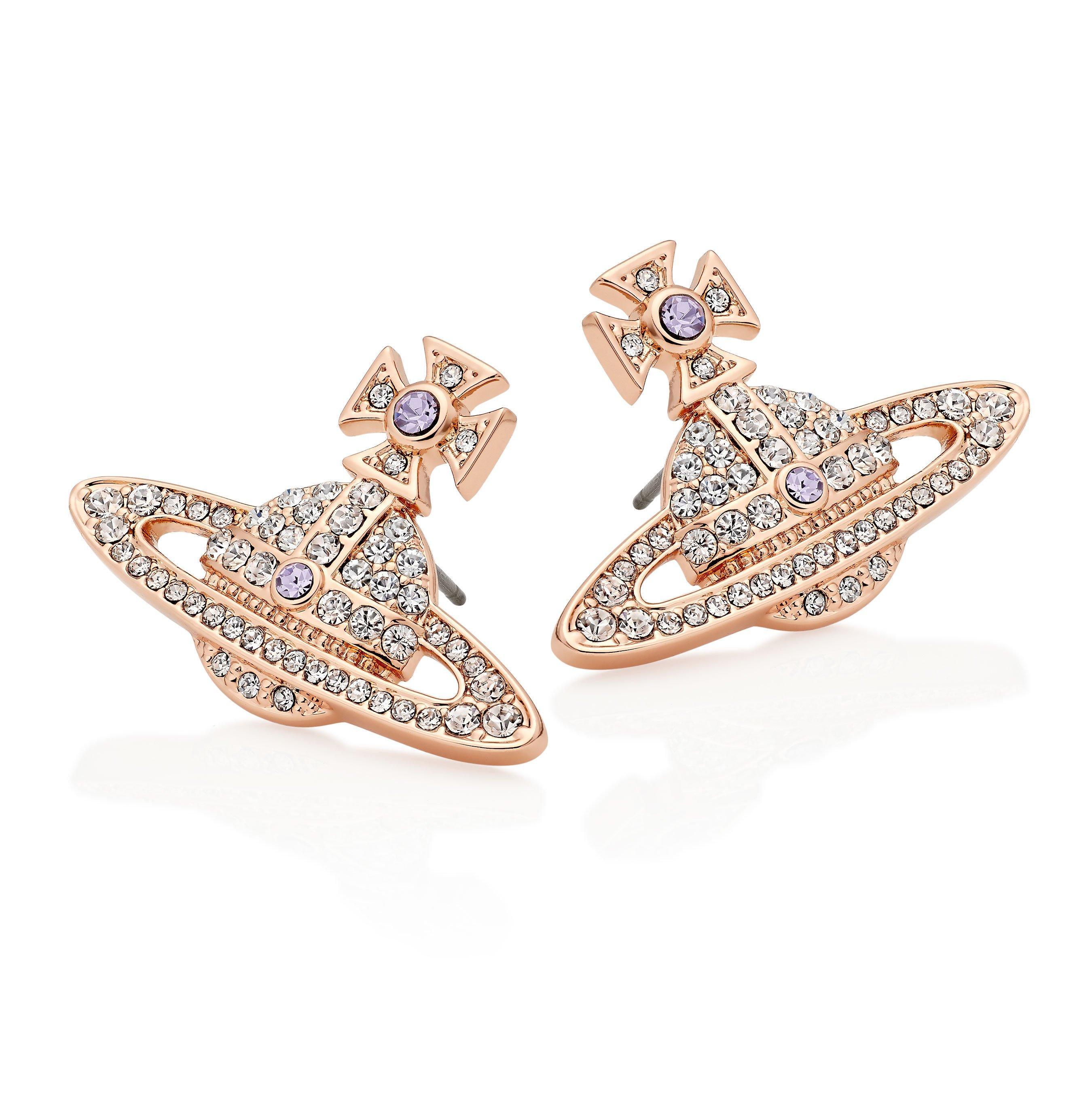 Vivienne Westwood Kika Rose Gold Tone Orb Earrings