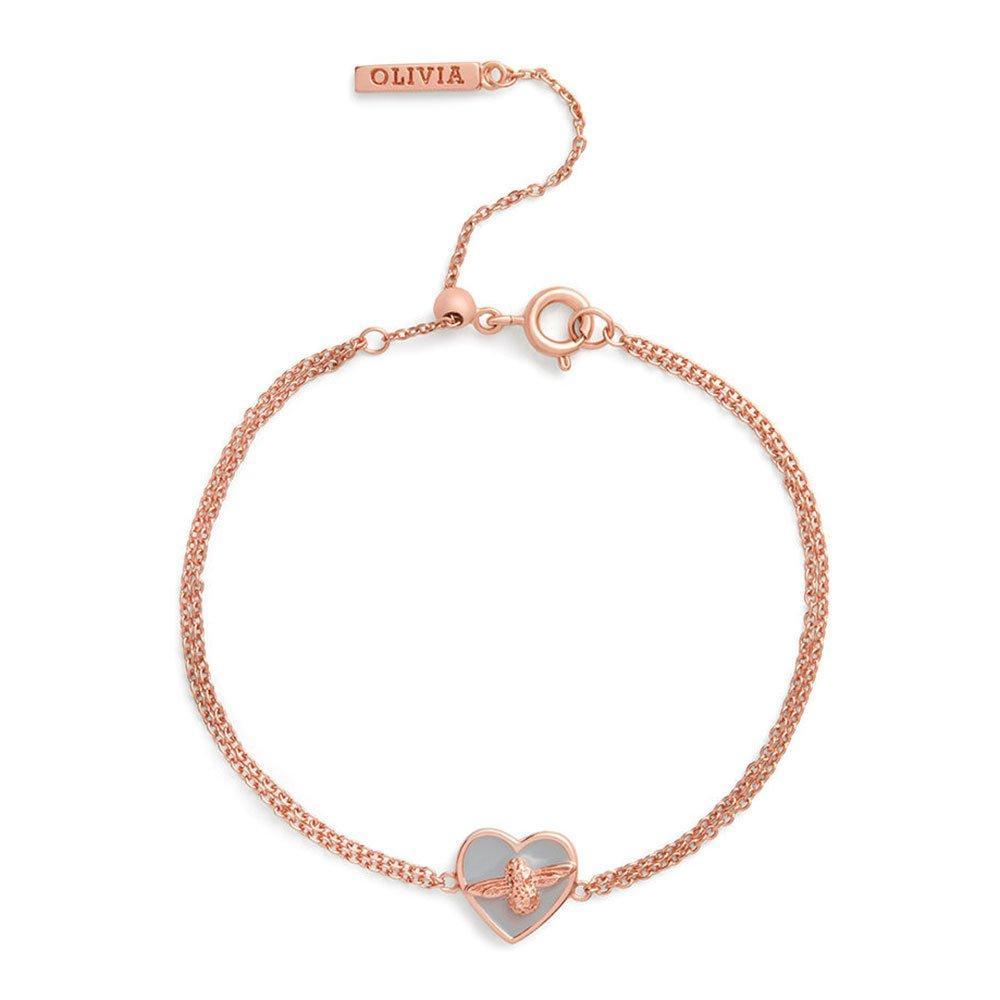 Olivia Burton Love Bug Rose Gold Plated Chain Bracelet