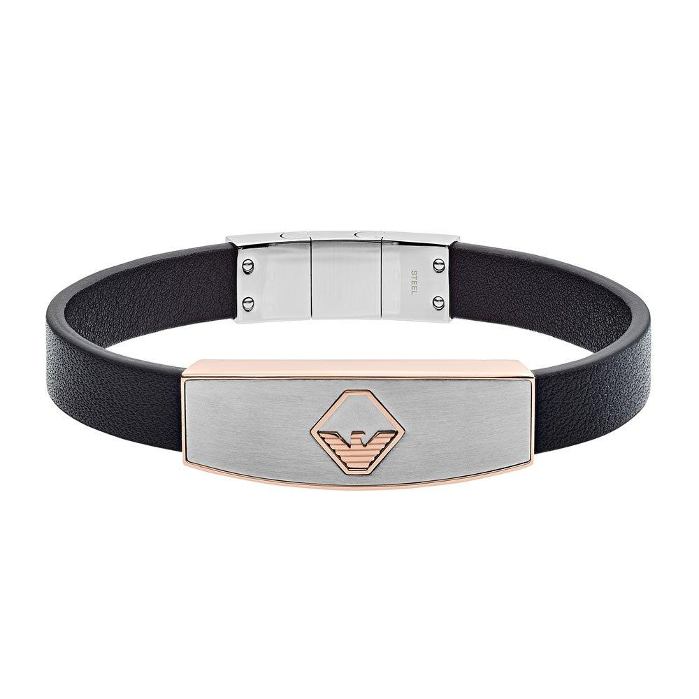 Emporio Armani Leather Two Colour Men's Bracelet