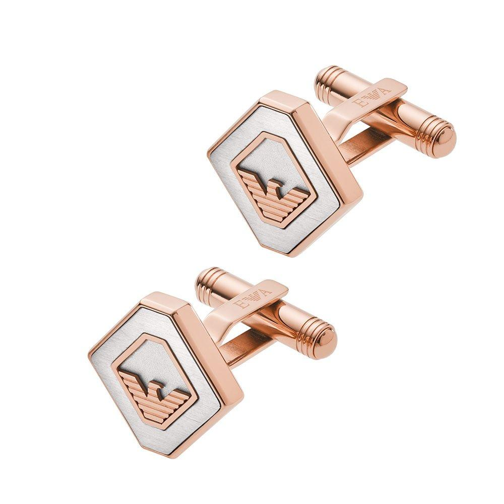 Emporio Armani Rose Gold Tone Men's Cufflinks
