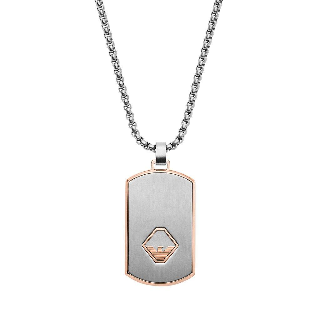 Emporio Armani Two Colour Dog Tag Men's Pendant