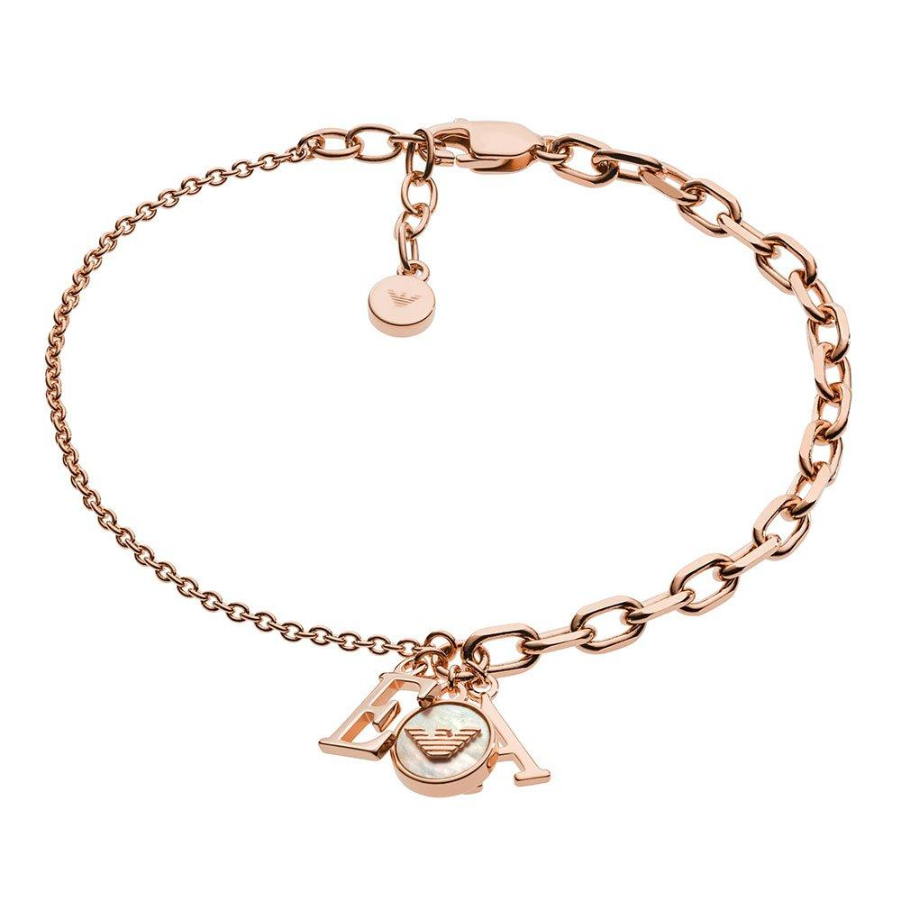 Emporio Armani Rose Gold Tone Silver Bracelet