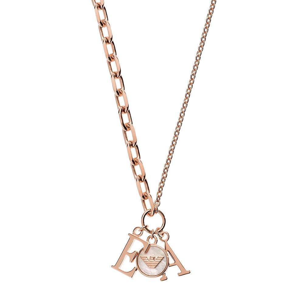 Emporio Armani Rose Gold Tone Silver Necklace