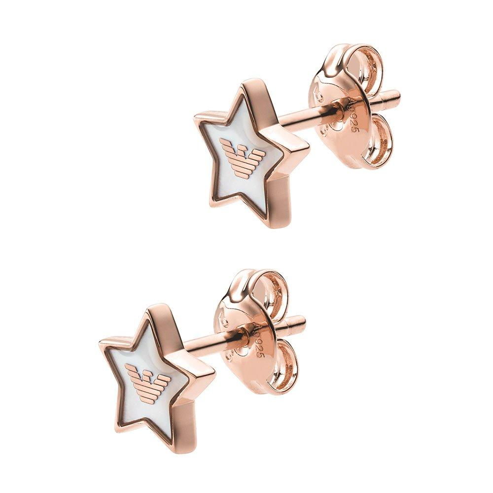 Emporio Armani Rose Gold Plated Star Stud Earrings