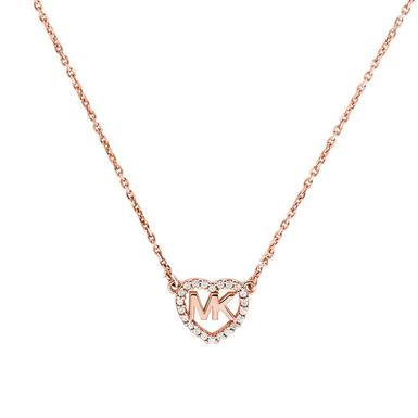 Michael Kors Love 14ct Rose Gold Plated Necklace