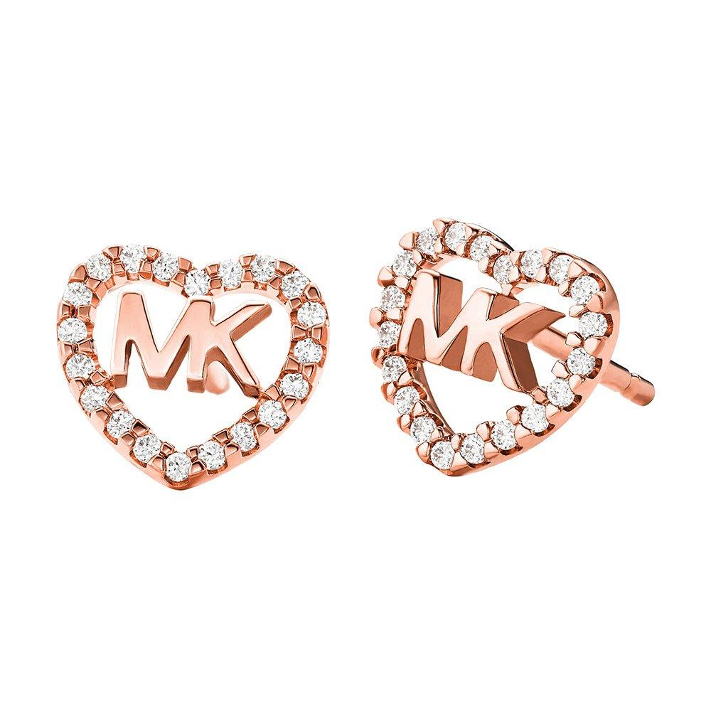 Michael Kors Love Logo 14ct Rose Gold Plated Earrings