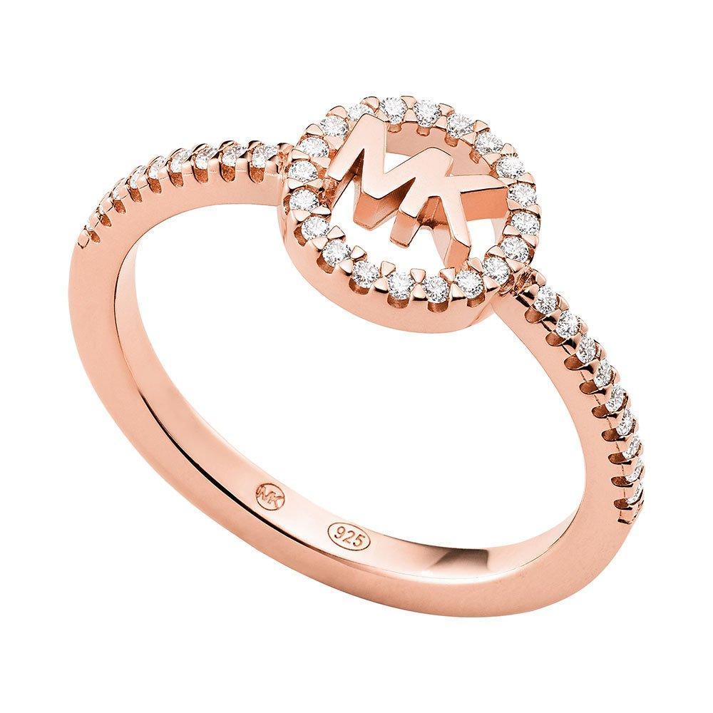 Michael Kors Love Logo 14ct Rose Gold Plated Ring