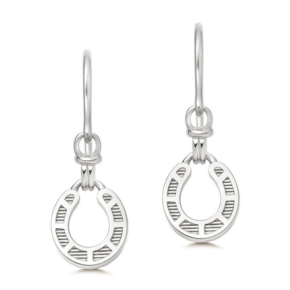 Links of London Ascot Silver Horseshoe Drop Earrings