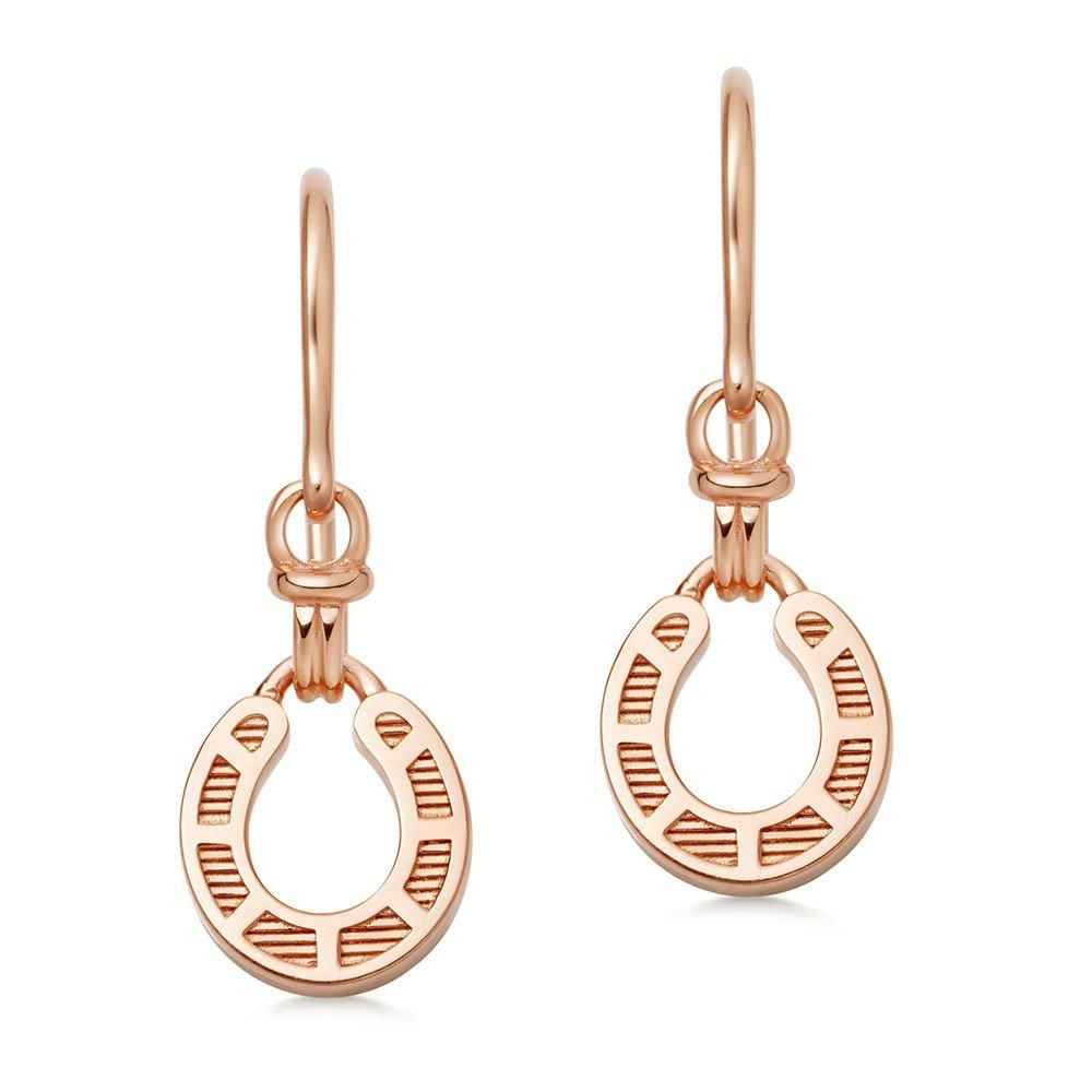 Links of London Ascot Rose 18ct Rose Gold Plated Silver Horseshoe Drop Earrings