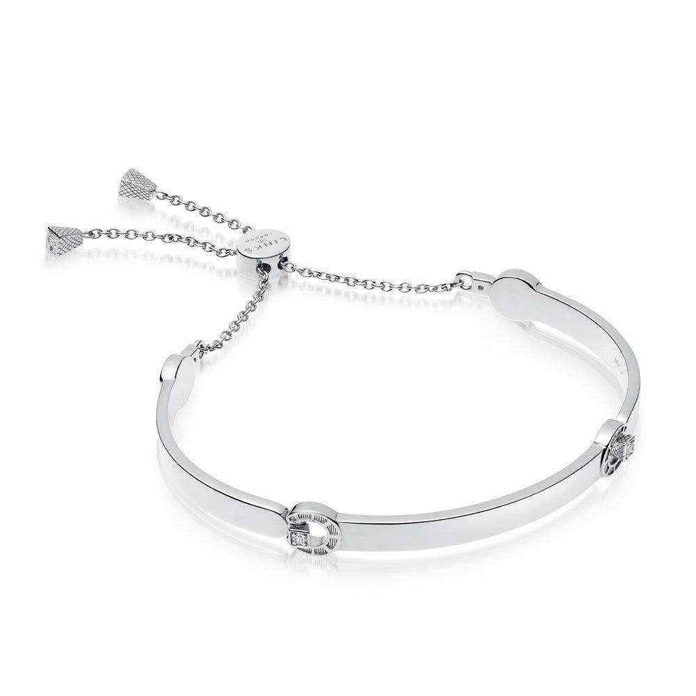 Links of London Ascot Rose Silver Horseshoe Toggle Bracelet