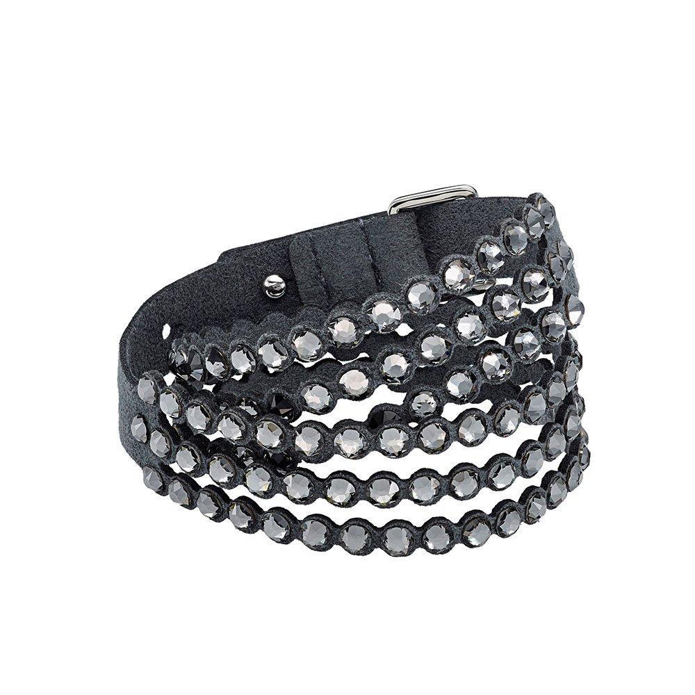 Swarovski Impulse Dark Grey Crystal Bracelet