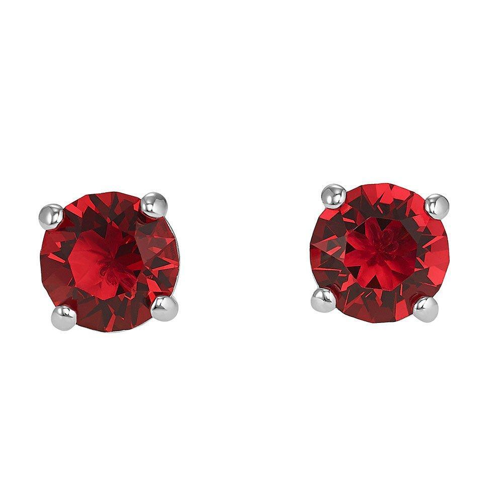 Swarovski Crystal Attract Scarlet Stud Earrings