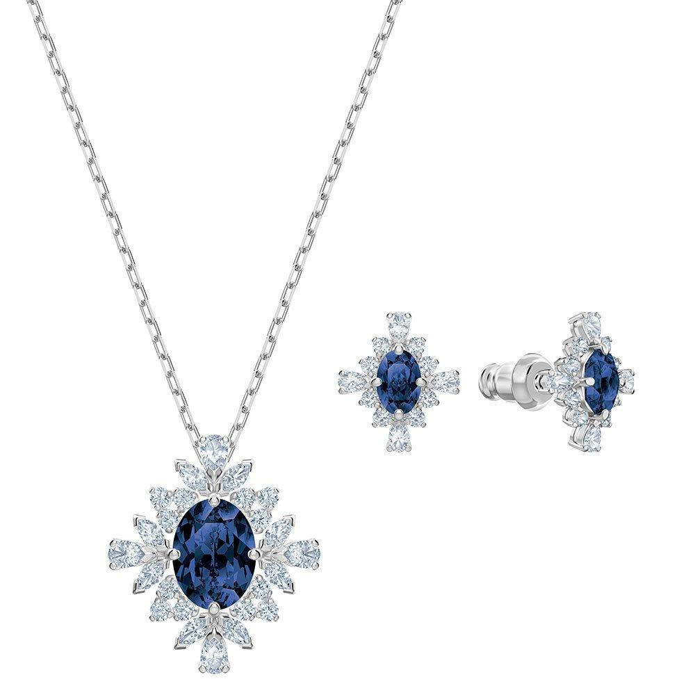 Swarovski Palace Blue Pendant and Earring Set