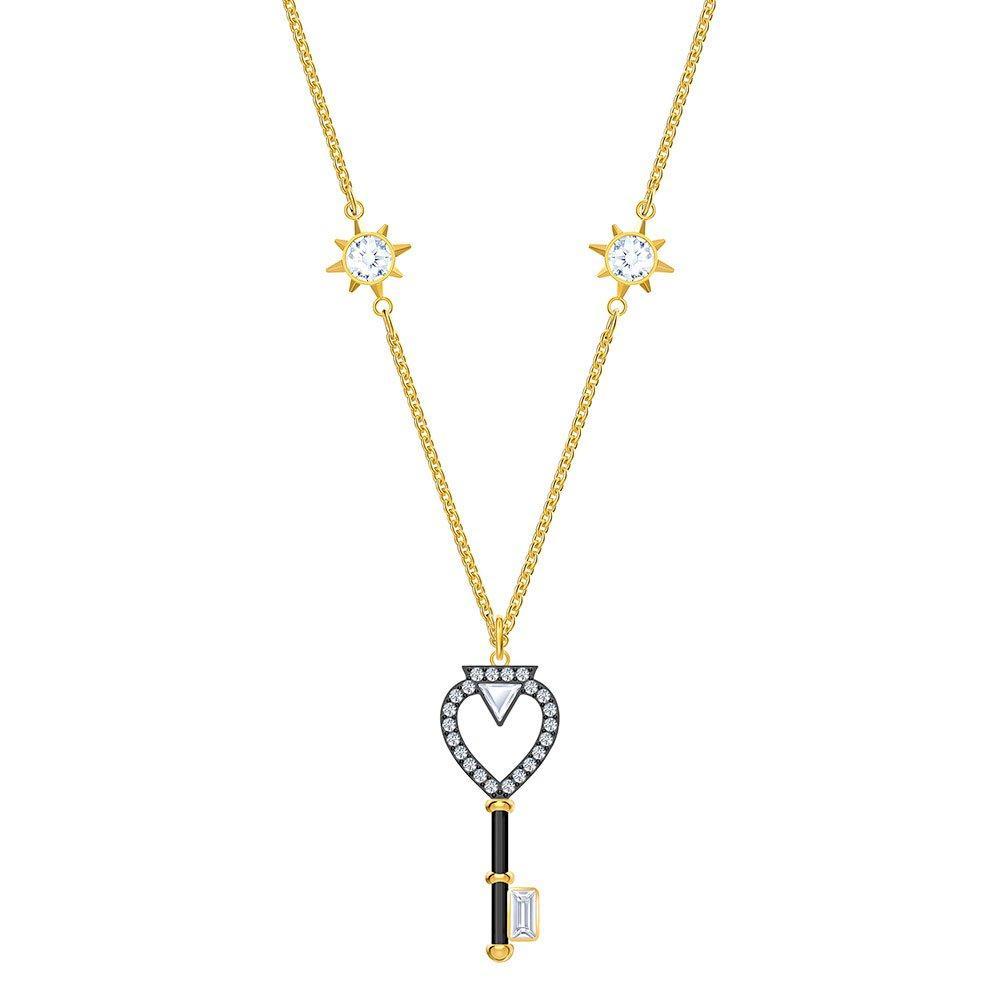 Swarovski Crystal Gold Tone Magic Key Necklace