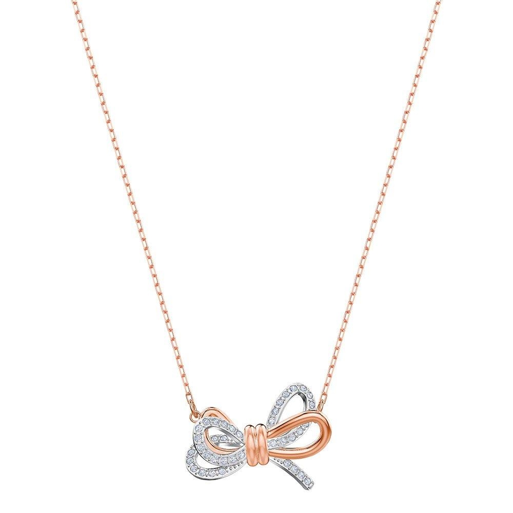 Swarovski Lifelong Bow Rose Gold Plated Crystal Pendant