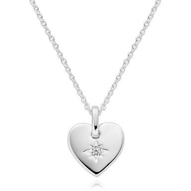 Silver Cubic Zirconia Heart Pendant
