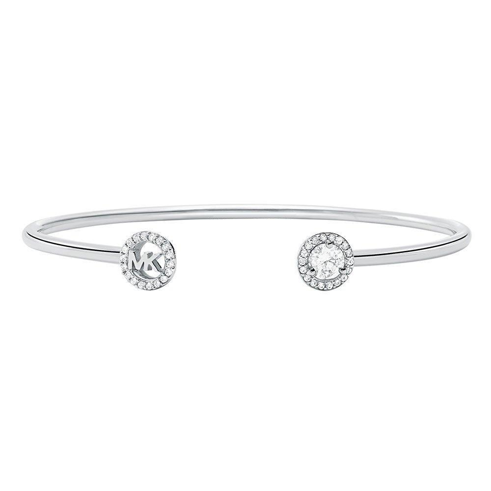Michael Kors Exclusive Custom Silver Cubic Zirconia Bangle