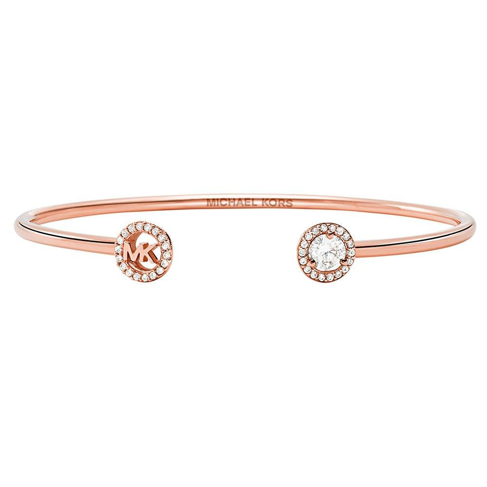 Michael Kors Exclusive Custom Rose Gold Plated Silver Cubic Zirconia Bangle