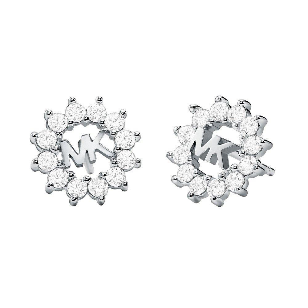 Michael Kors Exclusive Love Silver Crystal Stud Earrings