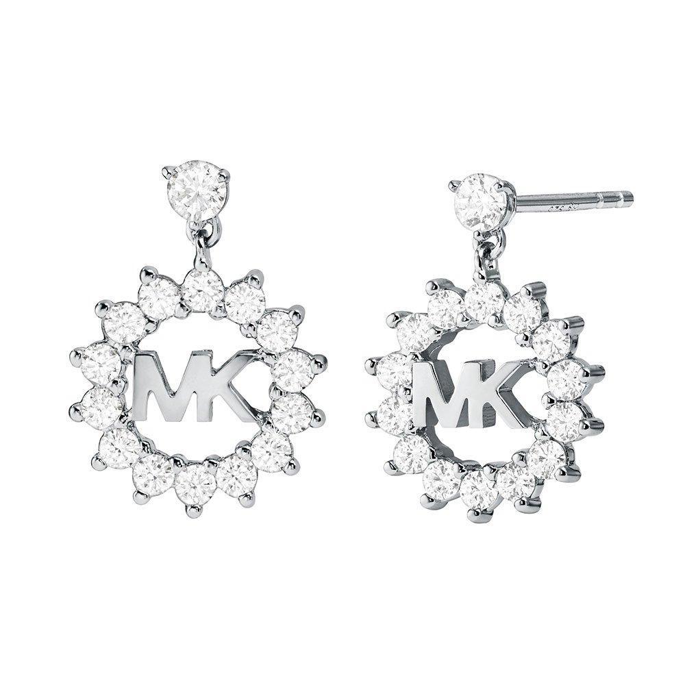 Michael Kors Exclusive Love Silver Crystal Drop Earrings