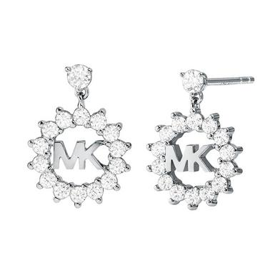 Michael Kors Exclusive Love Silver Crystal Drop Earrings