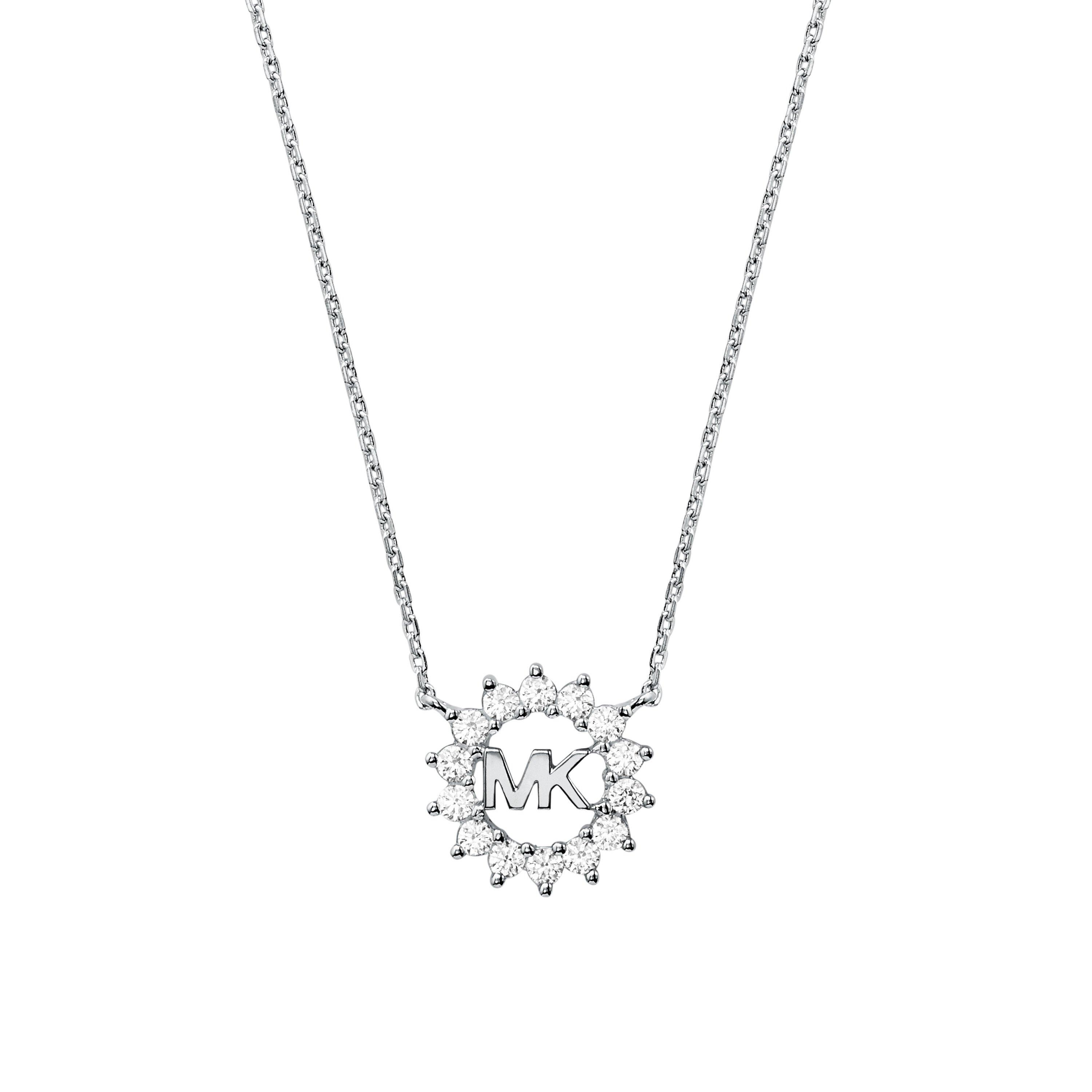 Michael Kors Exclusive Love Silver Crystal Necklace