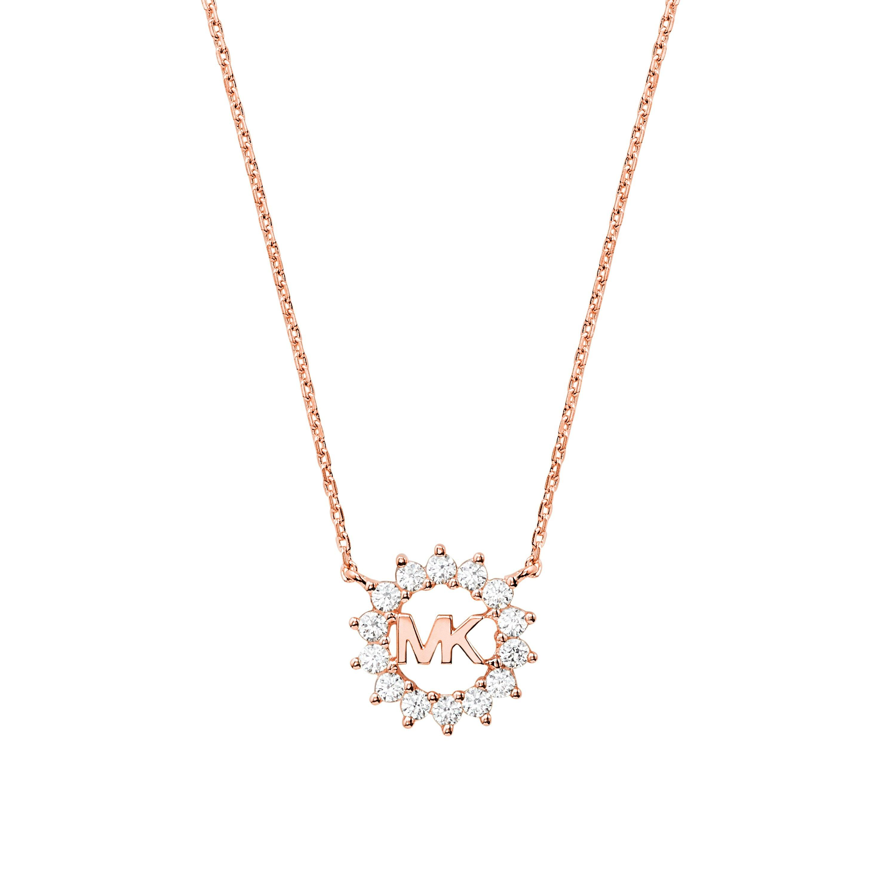 Michael Kors Exclusive Love Rose Gold Plated Silver Necklace