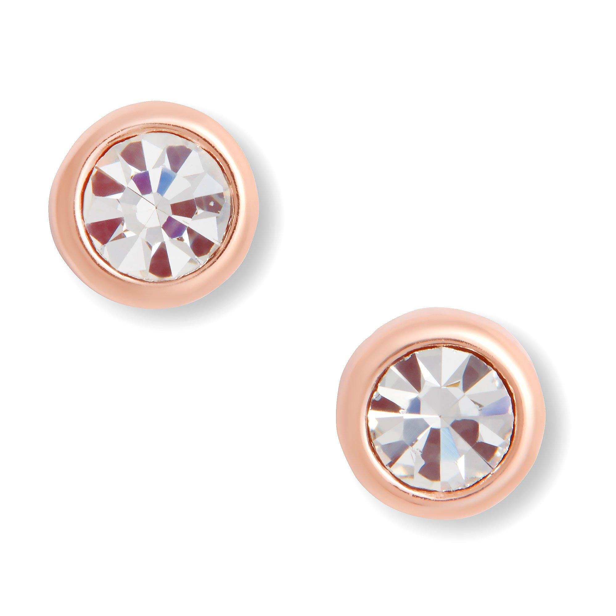 Olivia Burton Bejwelled Classic Rose Gold Plated Silver Stud Earrings