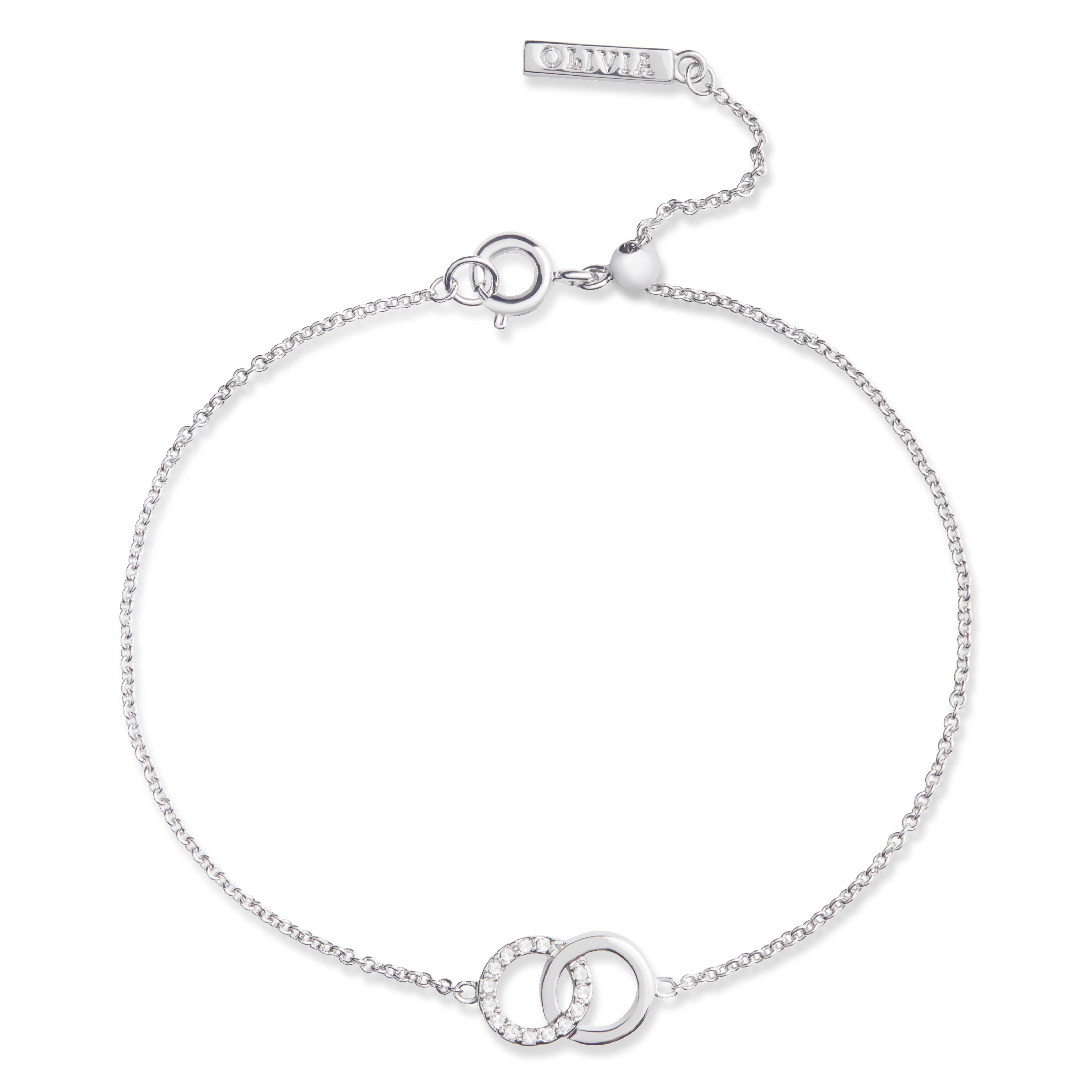 Olivia Burton Bejewelled Classics Silver Tone Crystal Bracelet