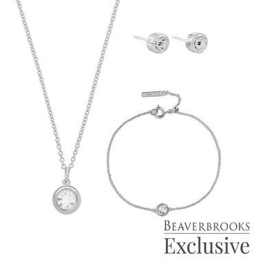 Olivia Burton Exclusive Bejewelled Silver Tone Cubic Zirconia Jewellery Gift Set