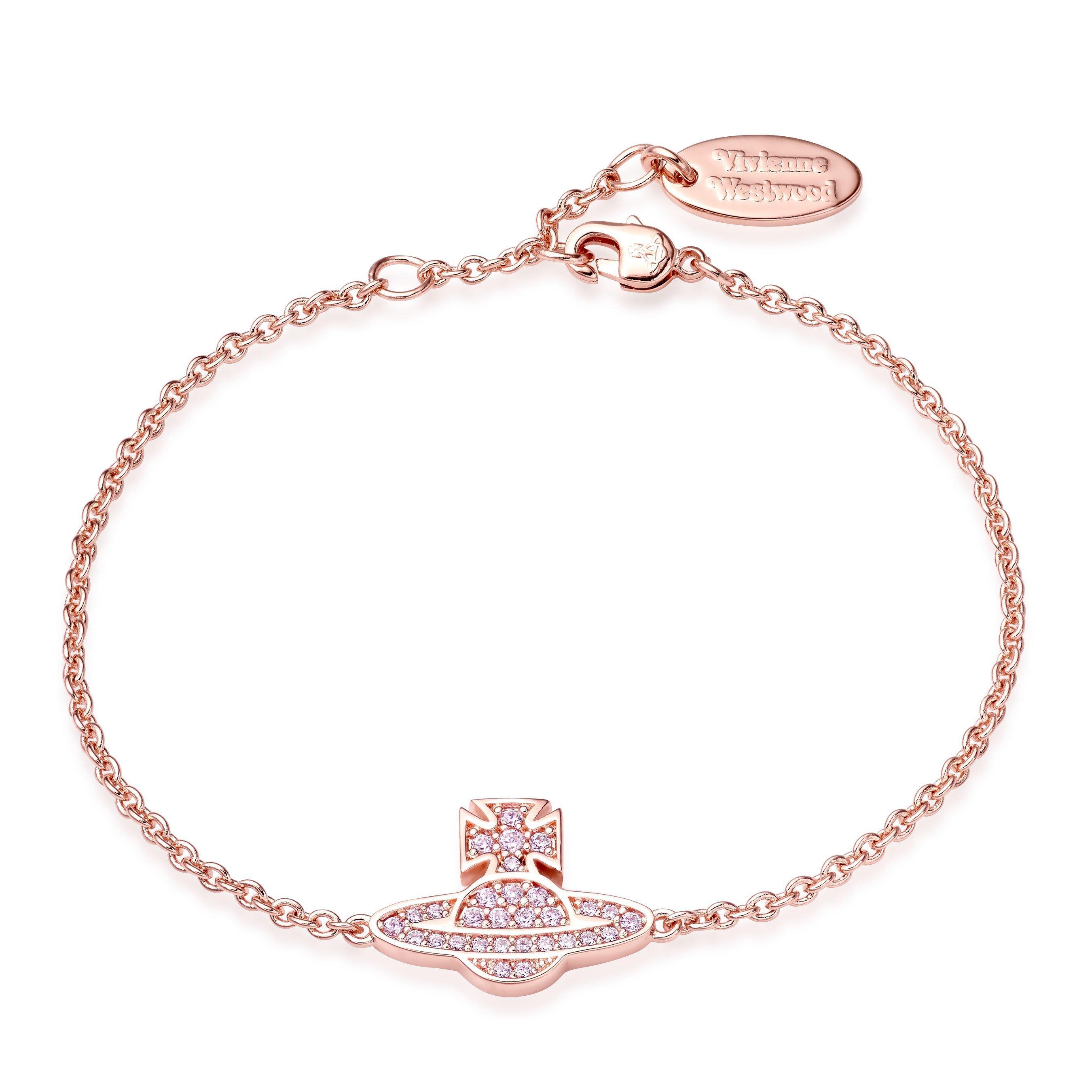 Vivienne Westwood Romina Orb Rose Tone Bracelet