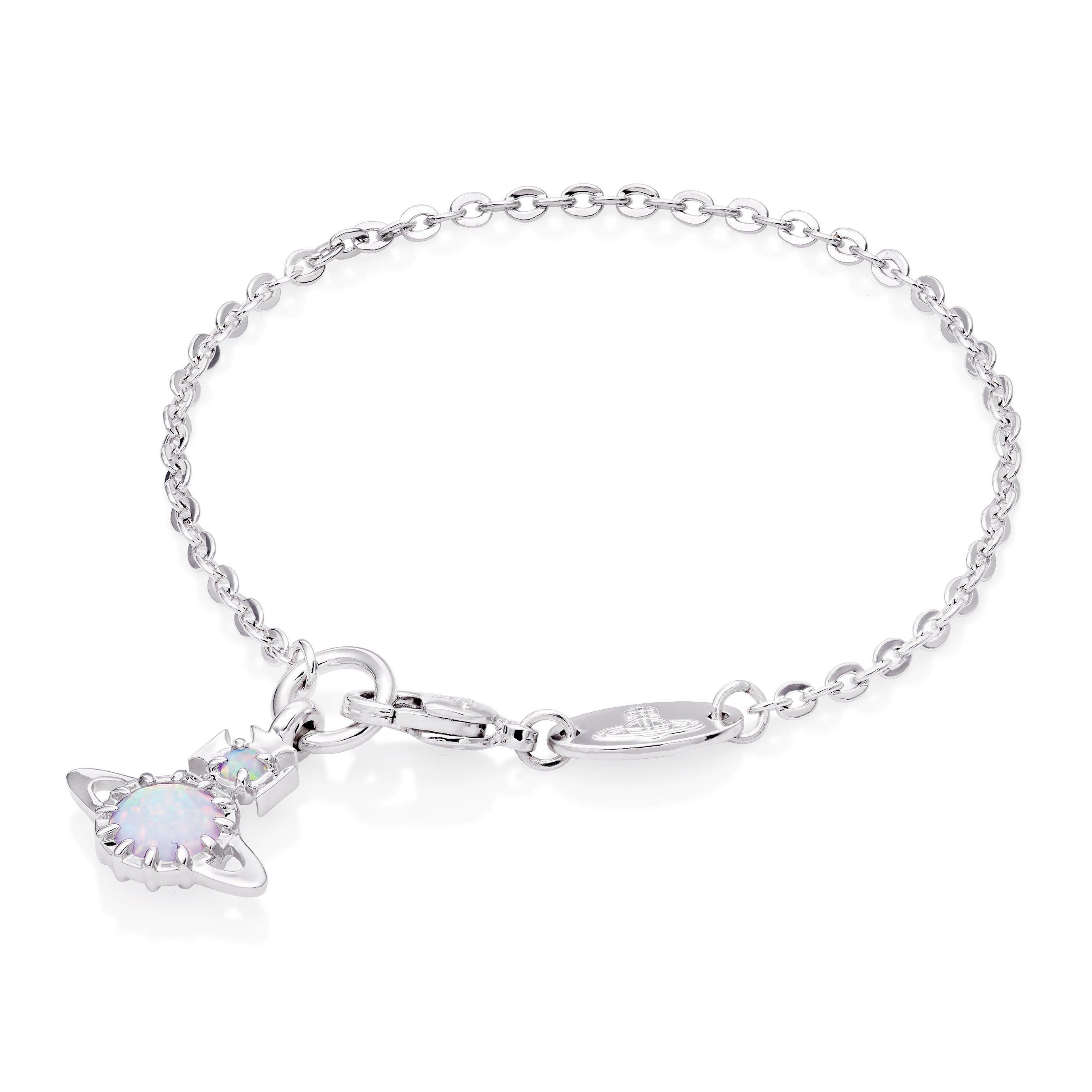 Vivienne Westwood Latifah Silver Tone Bracelet
