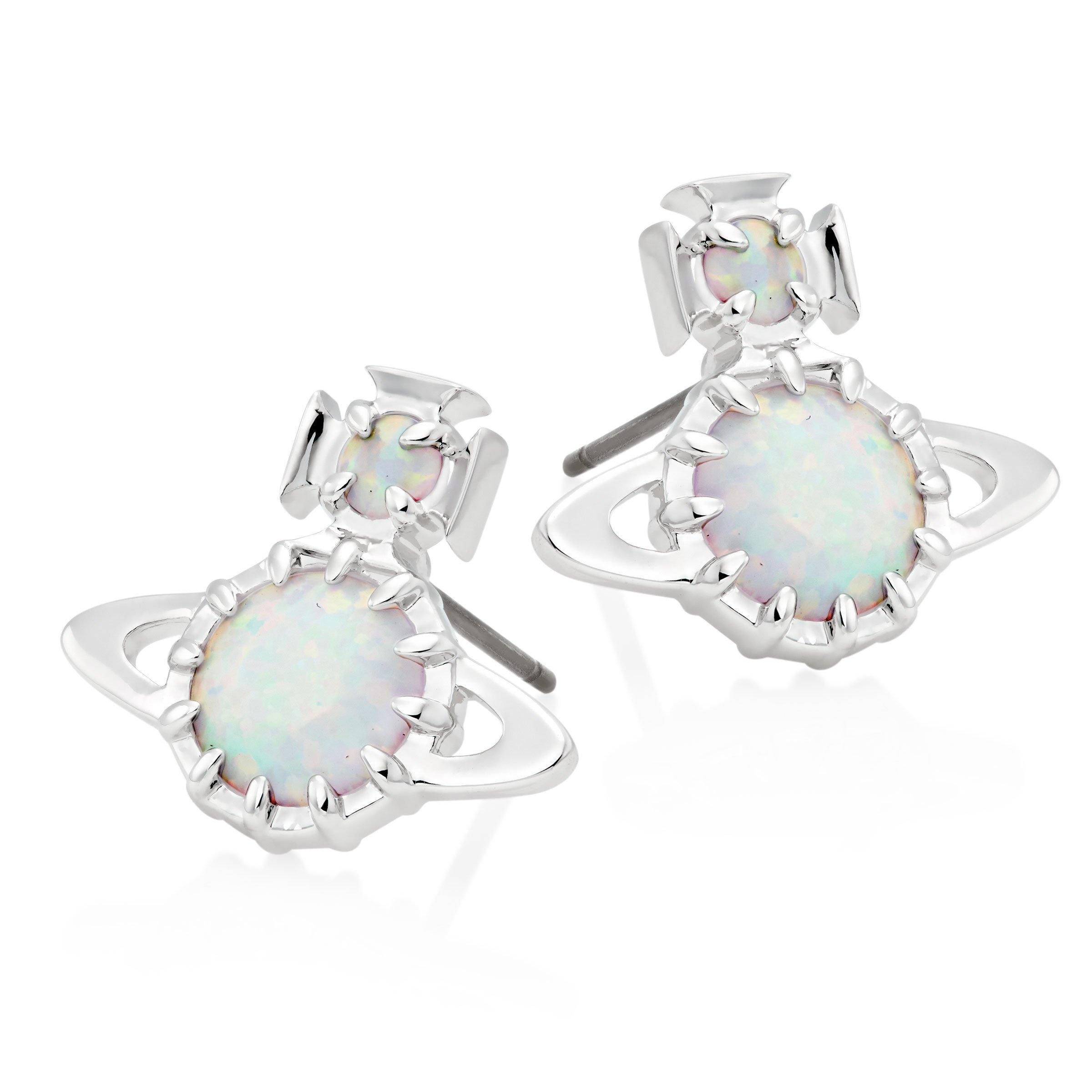 Vivienne Westwood Latifah Silver Tone Earrings