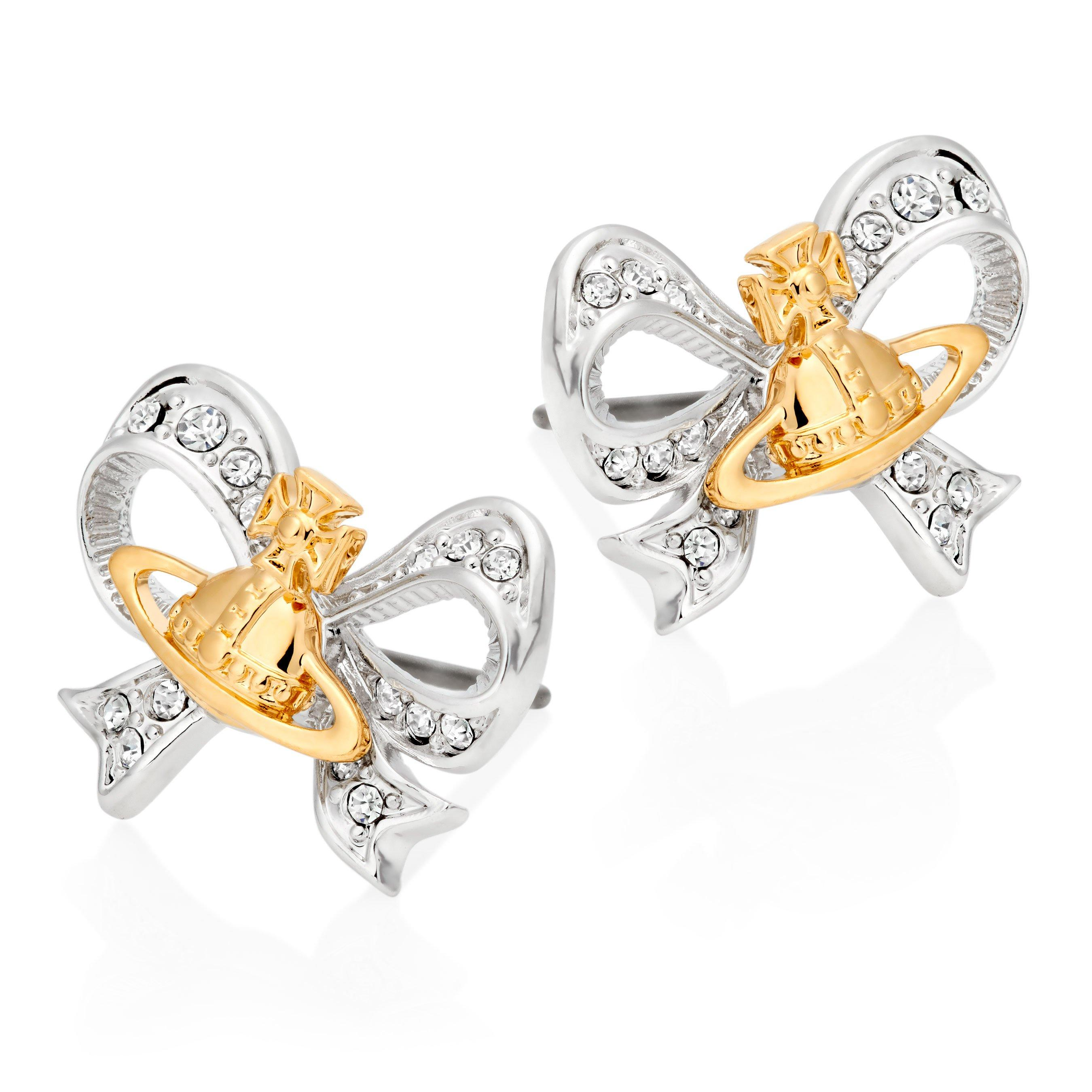 Vivienne Westwood Gail Silver and Gold Tone Earrings