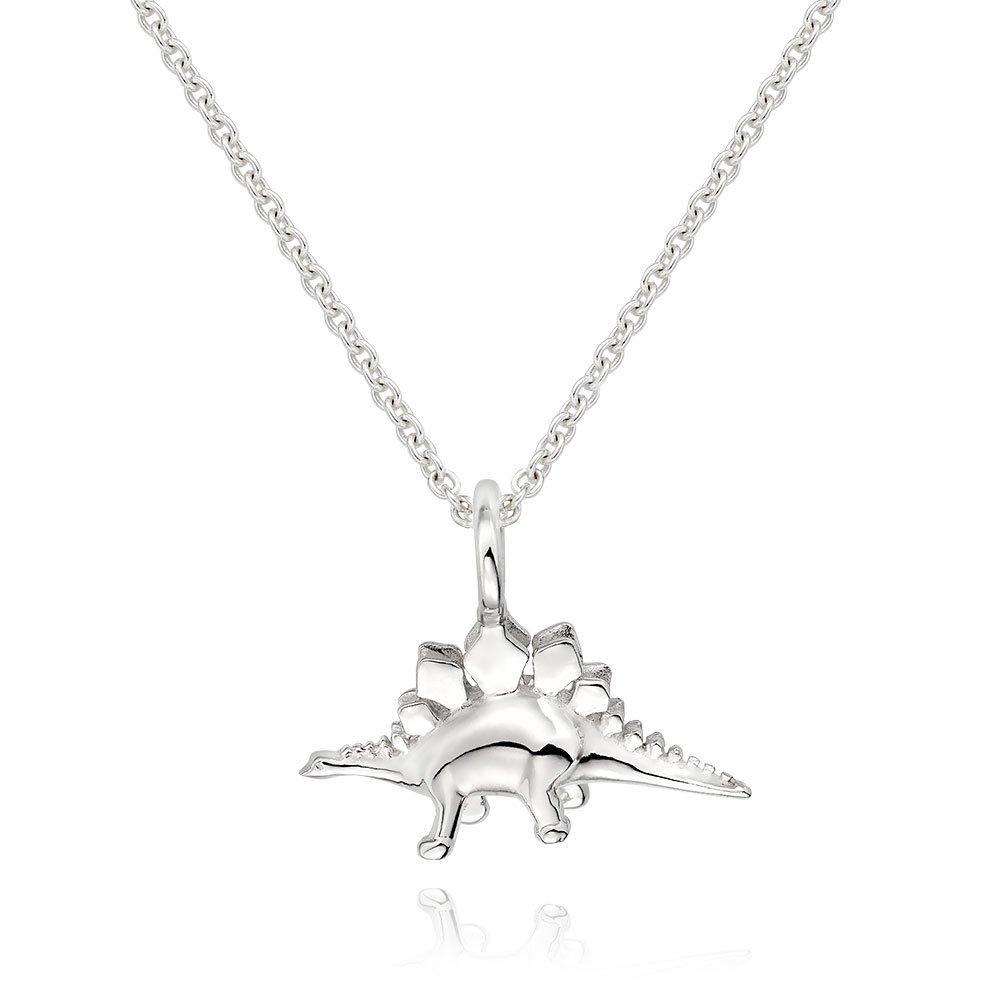 Silver Dinosaur Pendant