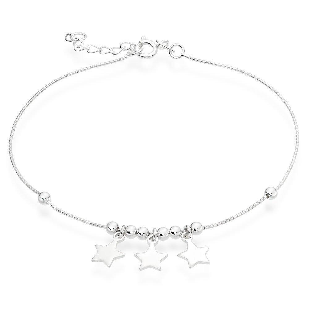 Silver Star Anklet
