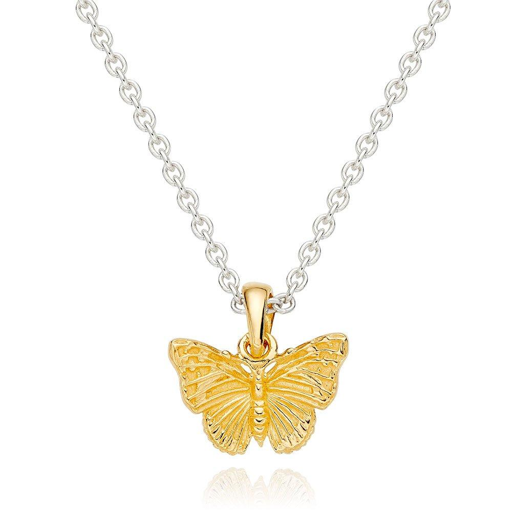 Silver Gold Plated Butterfly Pendant