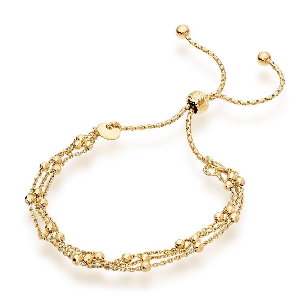 Silver 18ct Gold Plated Strand Bracelet