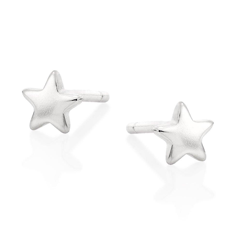 Silver Petite Star Stud Earrings