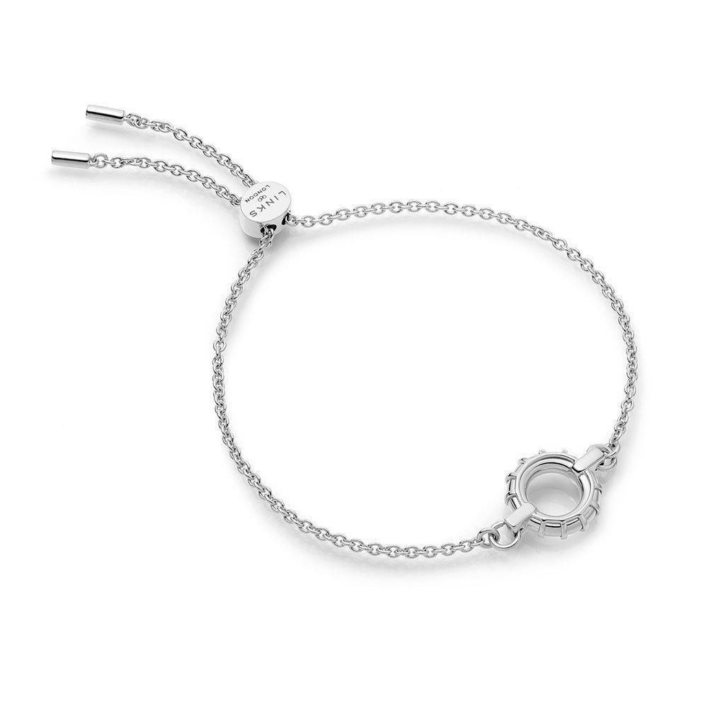 Links of London Brutalist Silver Caged Toggle Bracelet