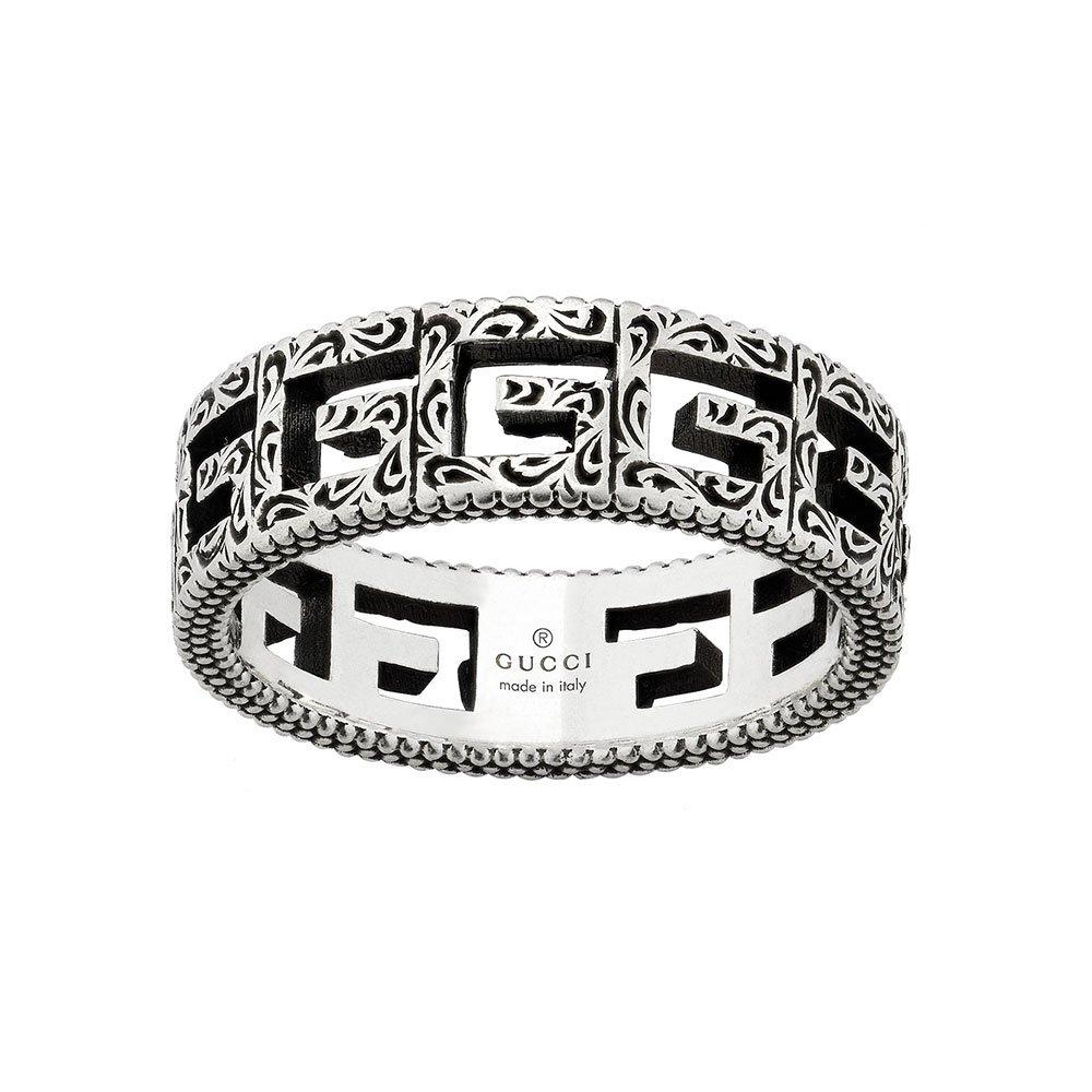 Gucci G Cube Silver Ring