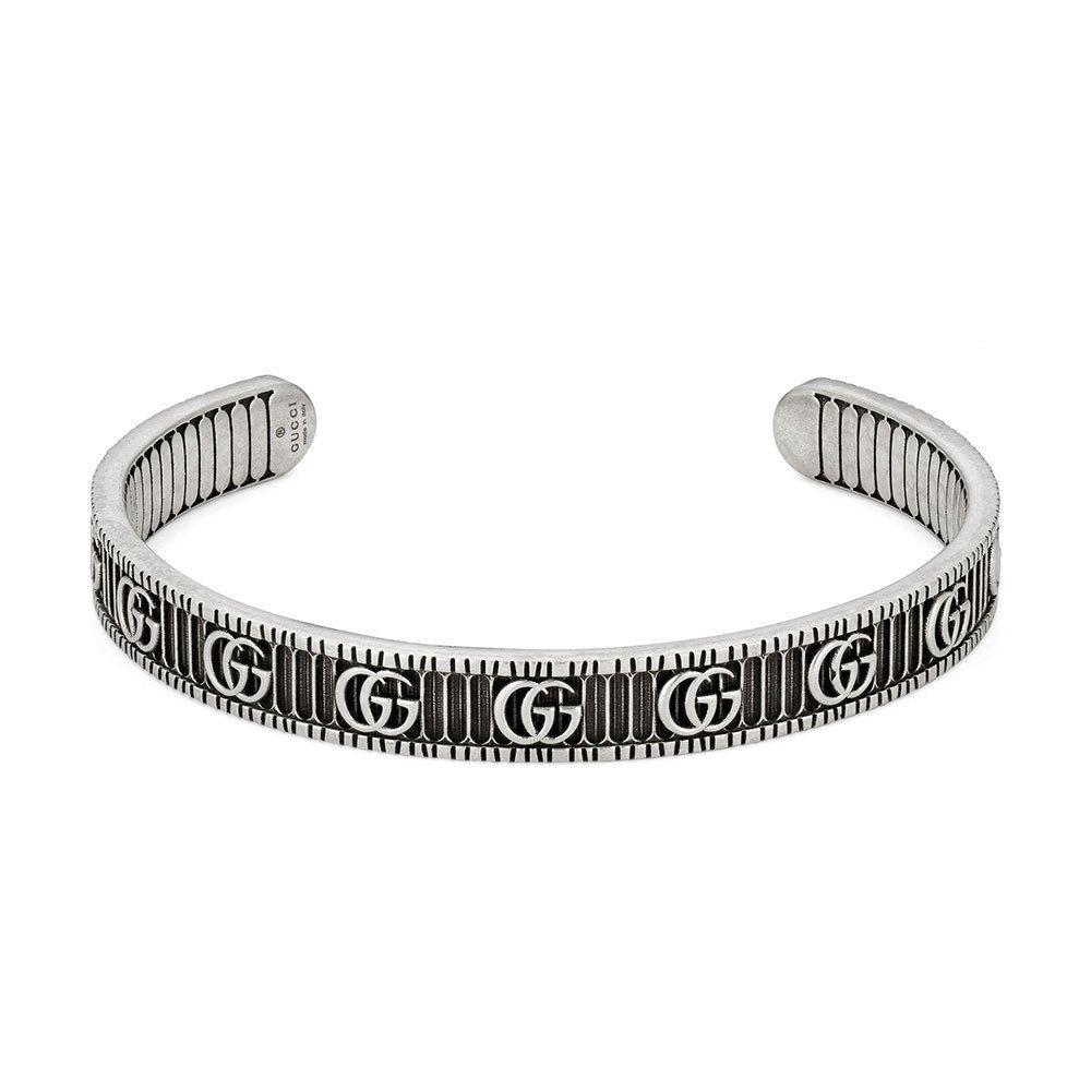 Gucci Marmont Silver Open Bangle