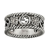 Gucci Interlocking G Flower Silver Ring