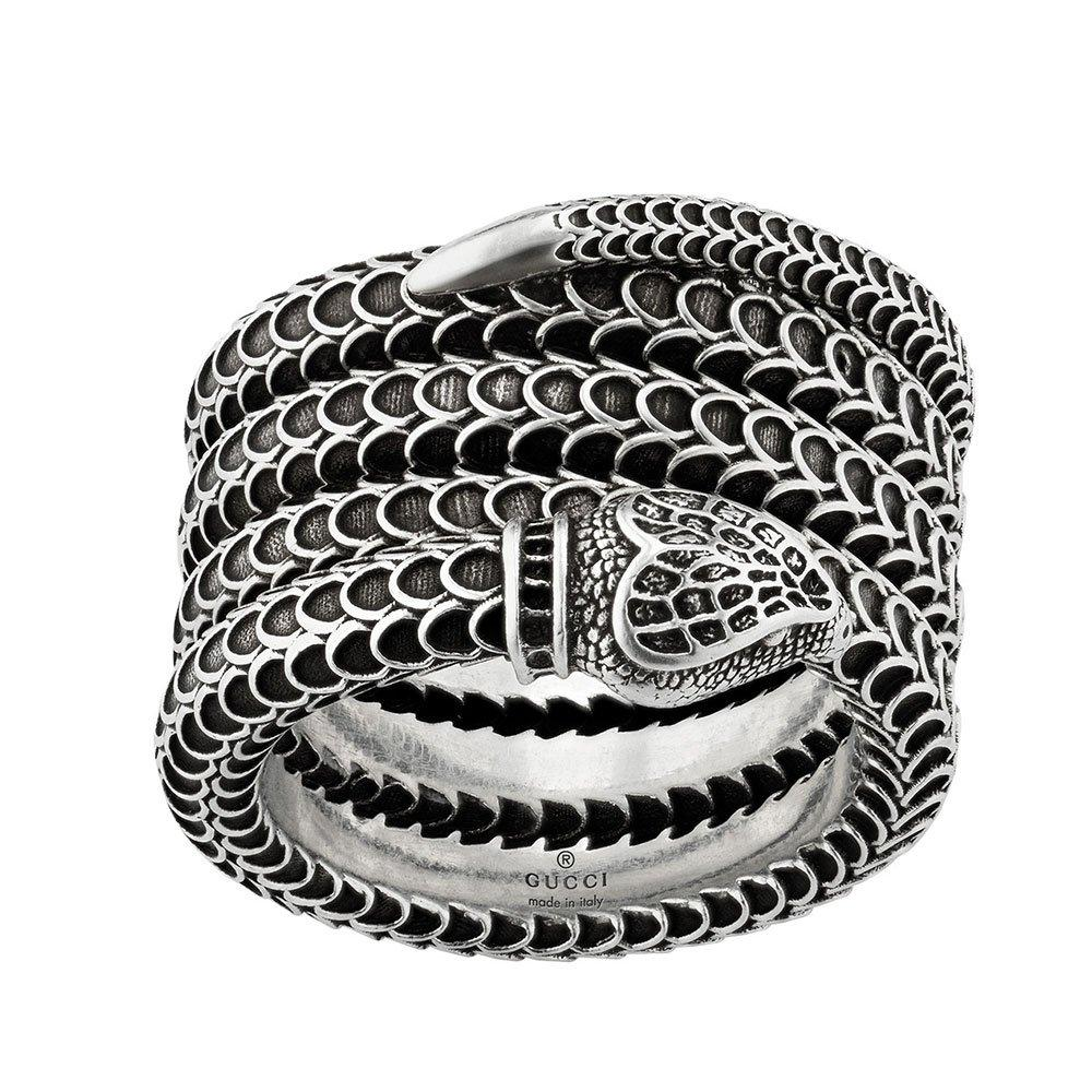 Gucci Garden Snake Silver Ring