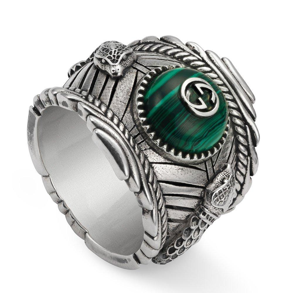 Gucci Garden Kingsnake Silver Ring